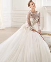 لاطلالة انيقة! فستان الزفاف بالأكمام الطويلة